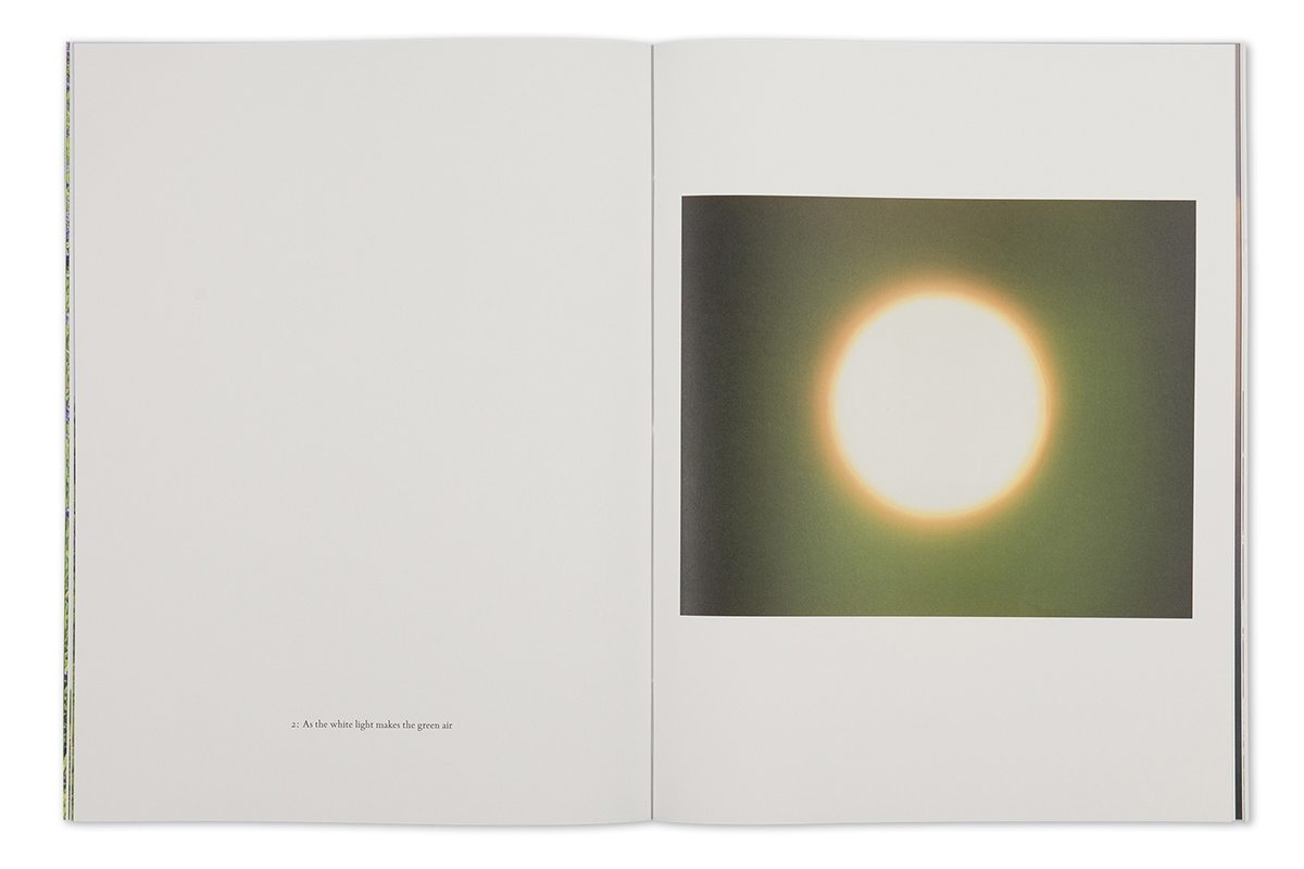 Garry Fabian Miller - Seeing Believing artist book as the white light makes the green air