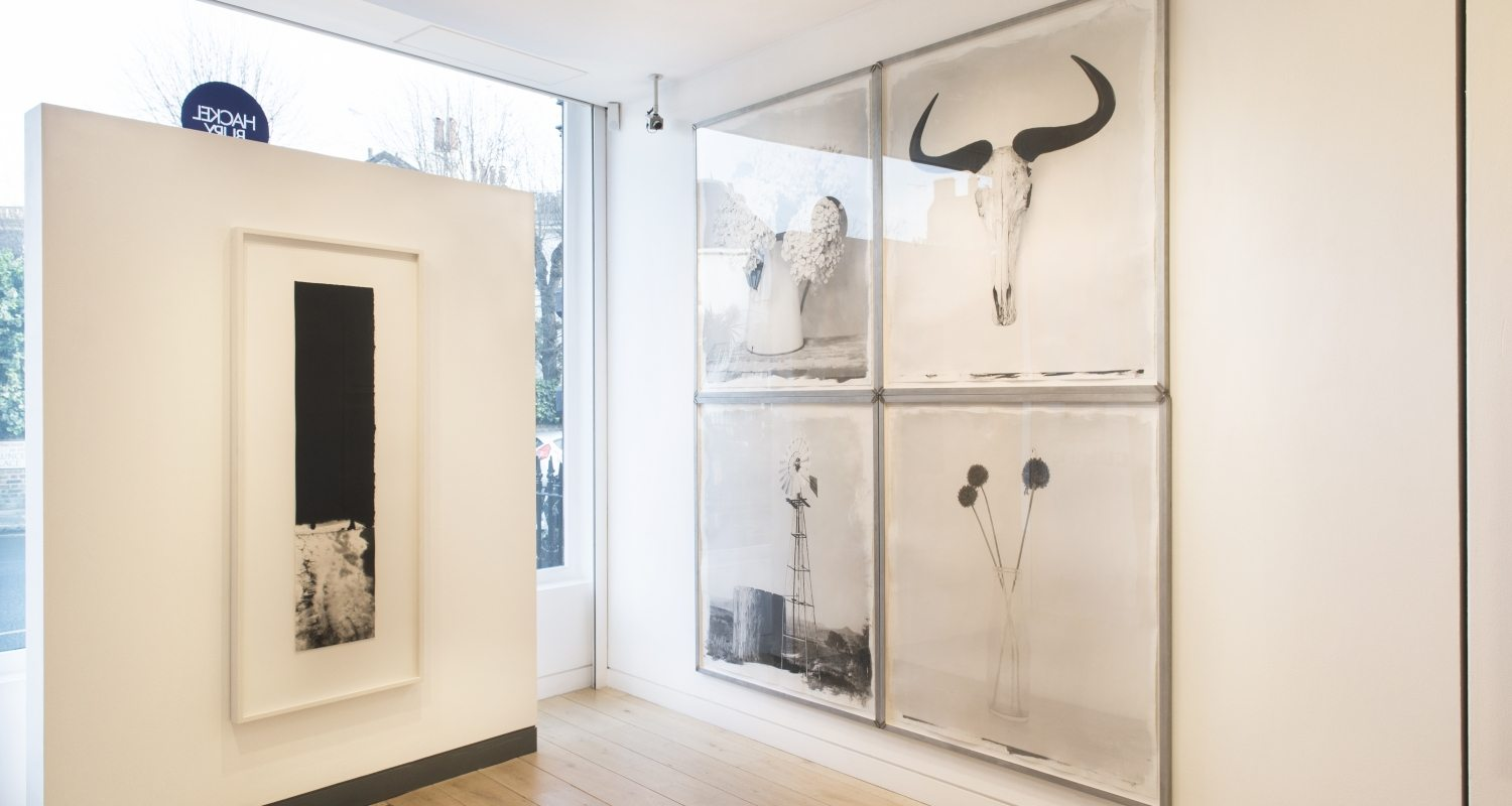 Installation image from HackelBury Fine Art, 2018 - Art + Place London - Mckeever and Inggs