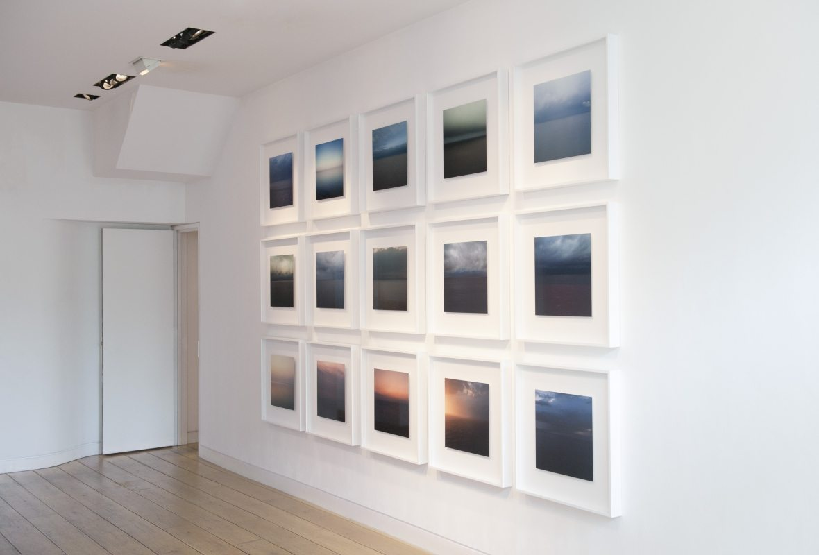 Installation image from HackelBury Fine Art, London, 2013 - Garry Fabian Miller Sea Horizons