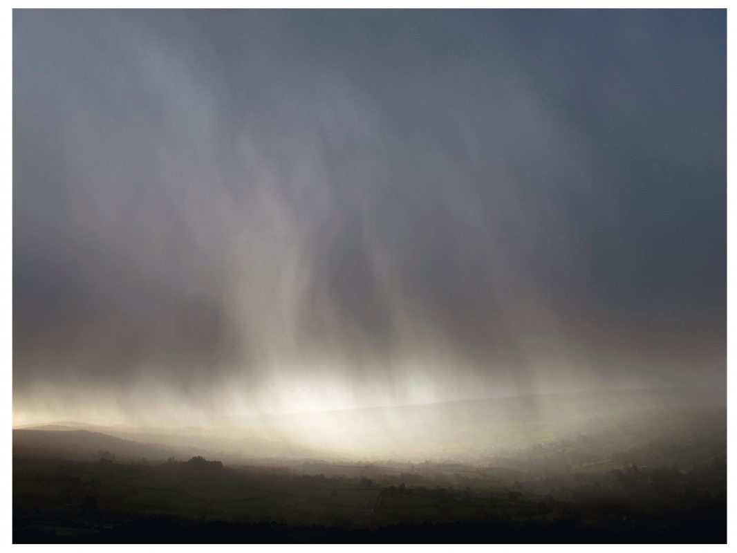 Garry Fabian Miller - Storm, in the shelter of Bone Hill Rocks, looking south down the Widecombe Valley