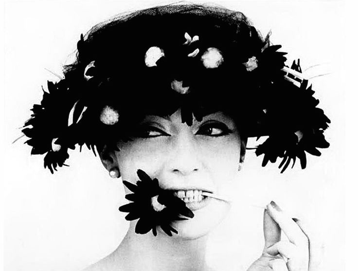 Barbara and Black Flowers, Paris (for Vogue), 1956