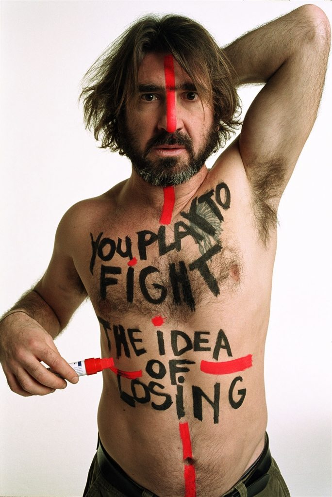 William Klein, Eric Cantona (for FIFA 100 Years Exhibition), 2004