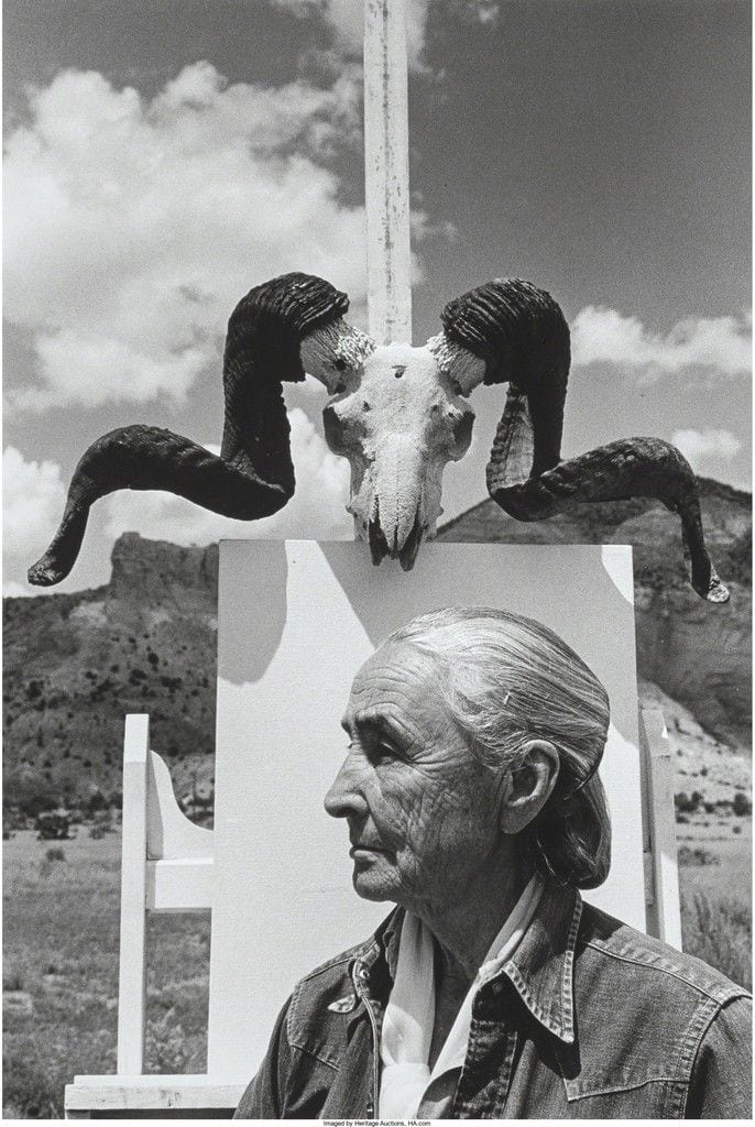 Arnold Newman, Georgia O'Keefe, Ghost Ranch, New Mexico, 1968