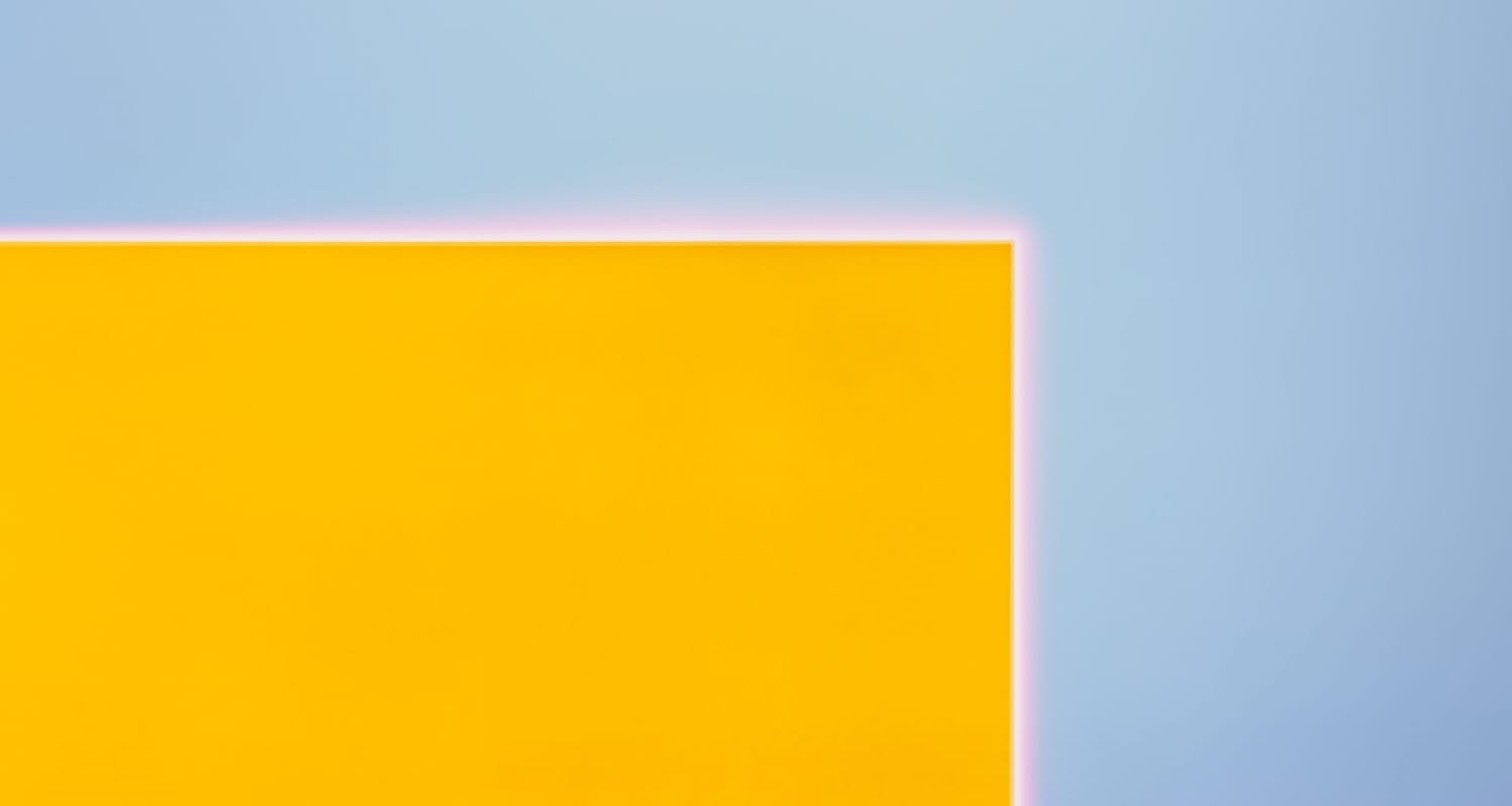 Garry Fabian Miller detail image - yellow rectangle in blue