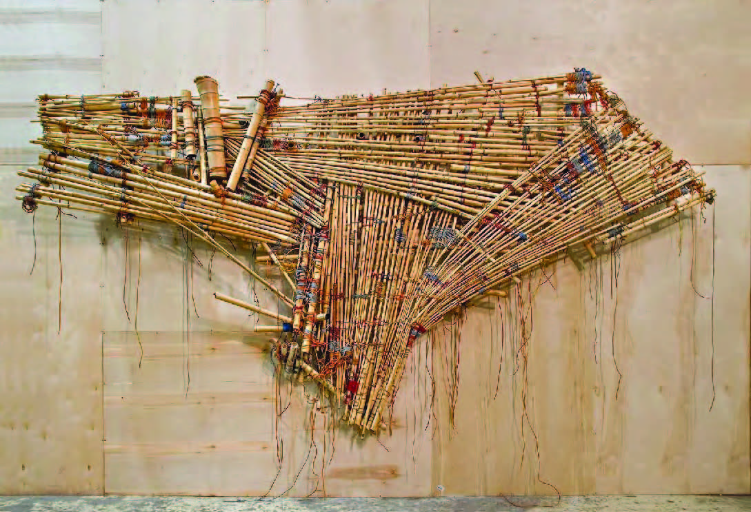 Bbú Juju painting V1 (From Big Bambú Venice Biennale installation), 2011