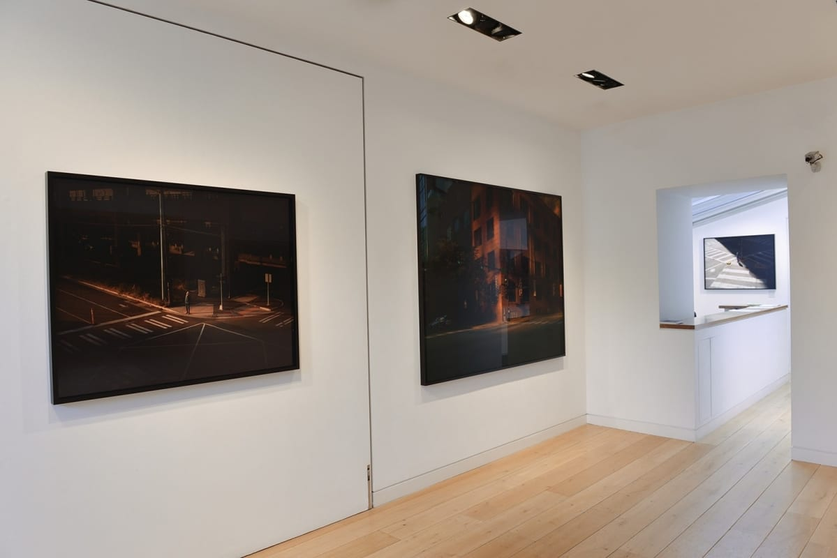 HackelBury Fine Art installation image-Oli Kellett-Cross Road Blues-gallery interior with photographic artworks on walls