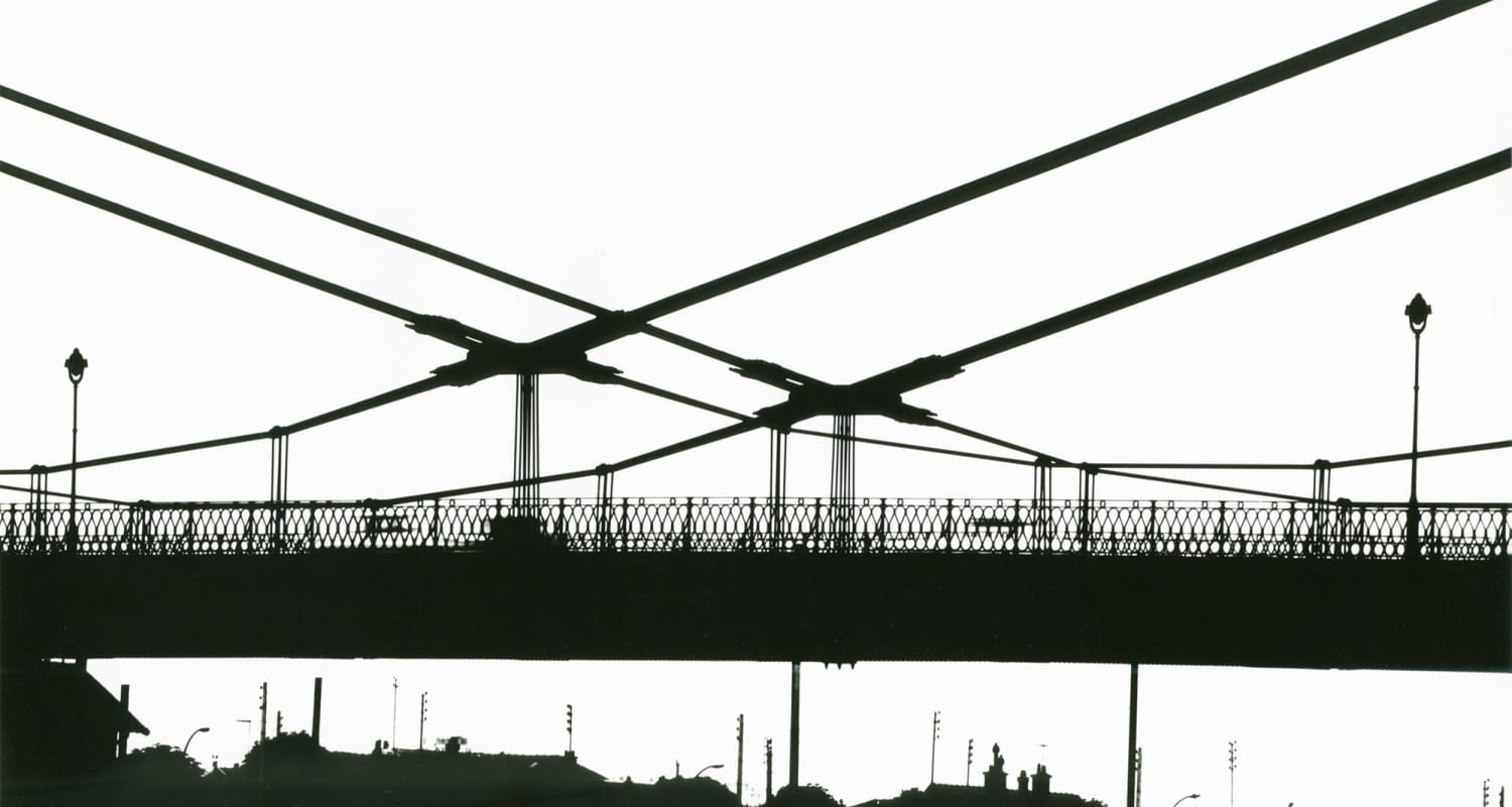 Alexandre Vitkine - HackelBury Fine Art - image detail - silhouette of a bridge - black and white photography