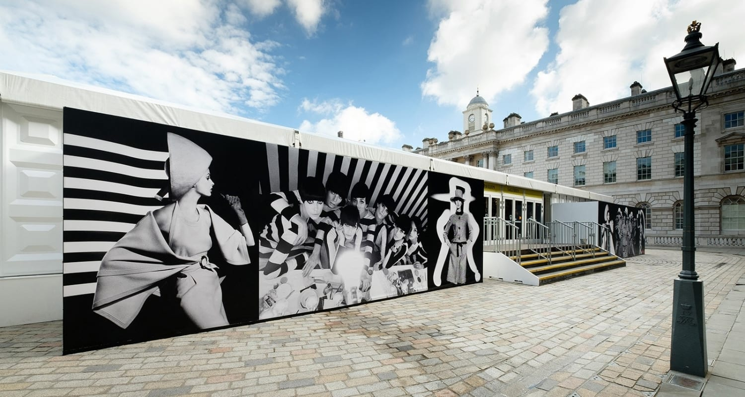 William Klein Photo London 2017-HackelBury Fine Art-murals of black and white photographs at Somerset House