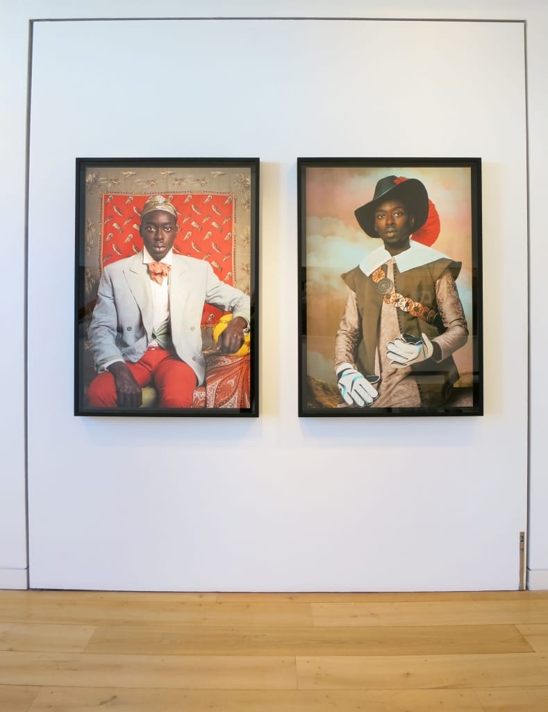 Omar Victor Diop - installation image - self portrait photographs at HackelBury Fine Art London