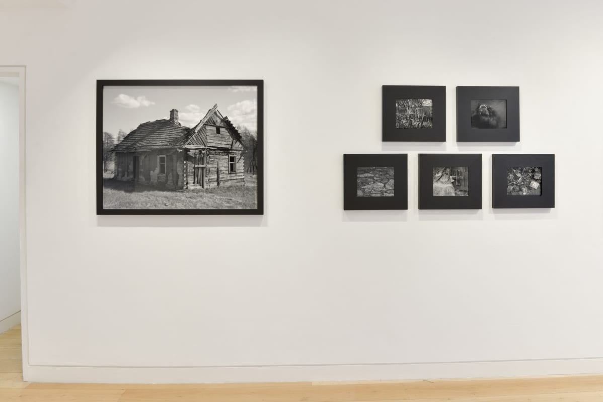 Alys Tomlinson HackelBury Fine Art - photography gallery London - white wall with six black and white photographs