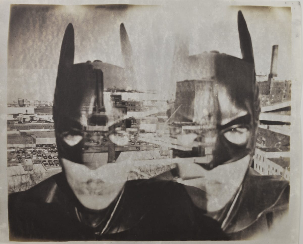 Gotham City 1002-Katja Liebmann-HackelBury Fine Art-kallitype photograph of woman in batman mask in New York city