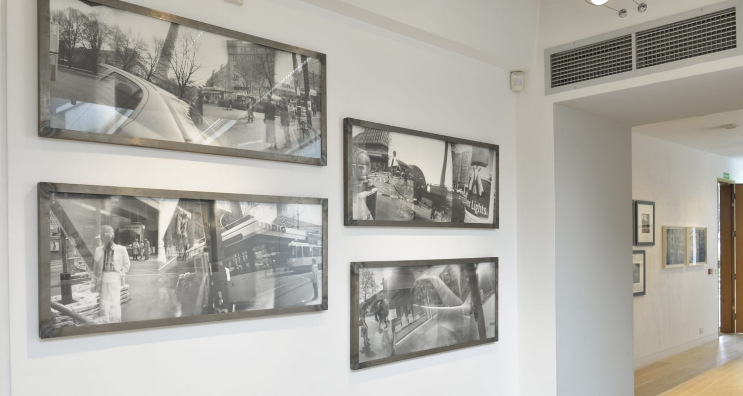 Katja Liebmann-HackelBury Fine Art London-Early Work Installation-4-Berlin Bus black and white photography
