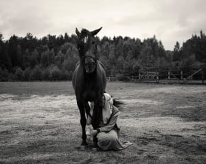 Photographic artwork of nun with a horse - Alys Tomlinson - Untitled-Sister Vera, Saint Elisabeth Convent, Belarus-i