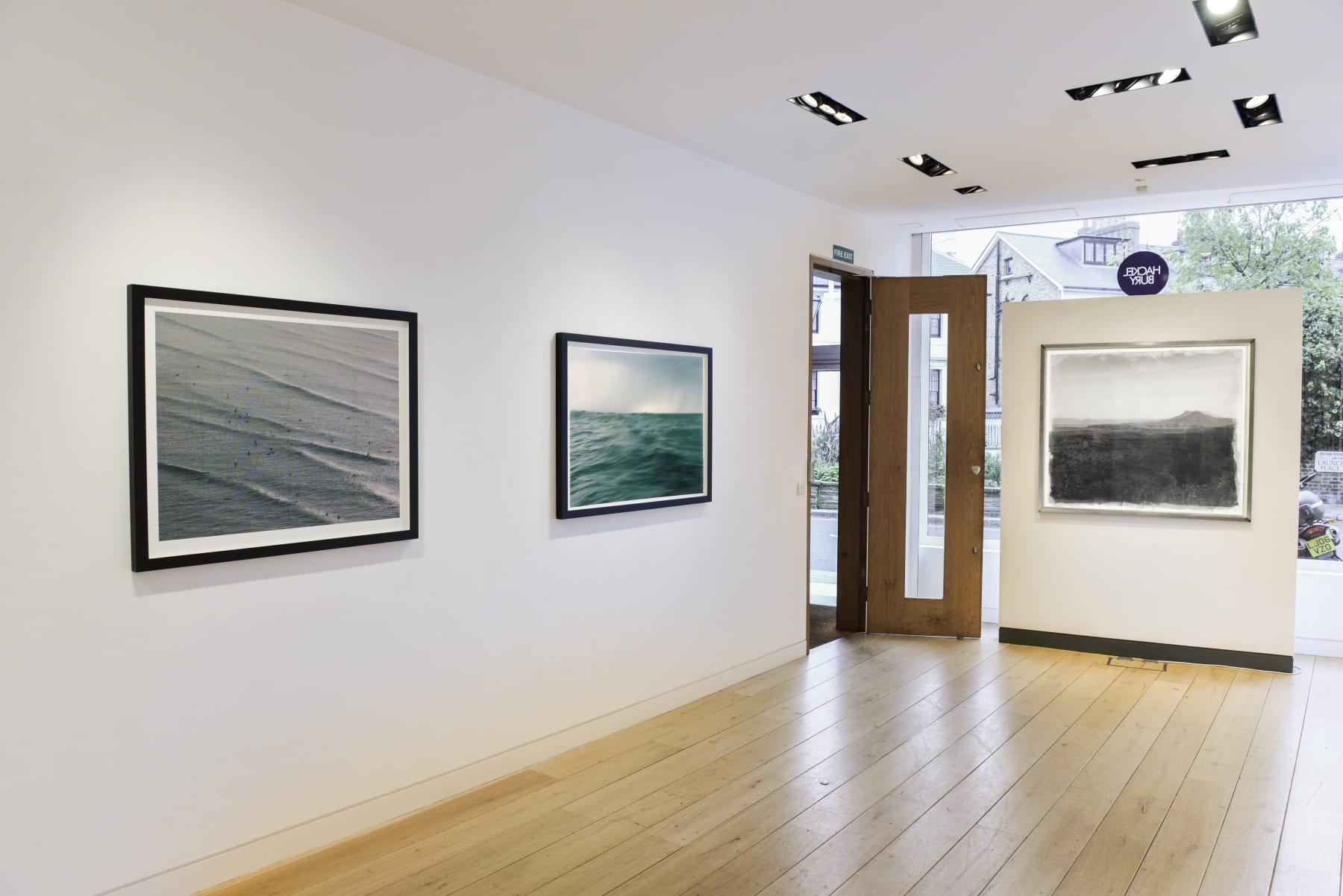 Stephen Inggs installation of photographs at HackelBury London