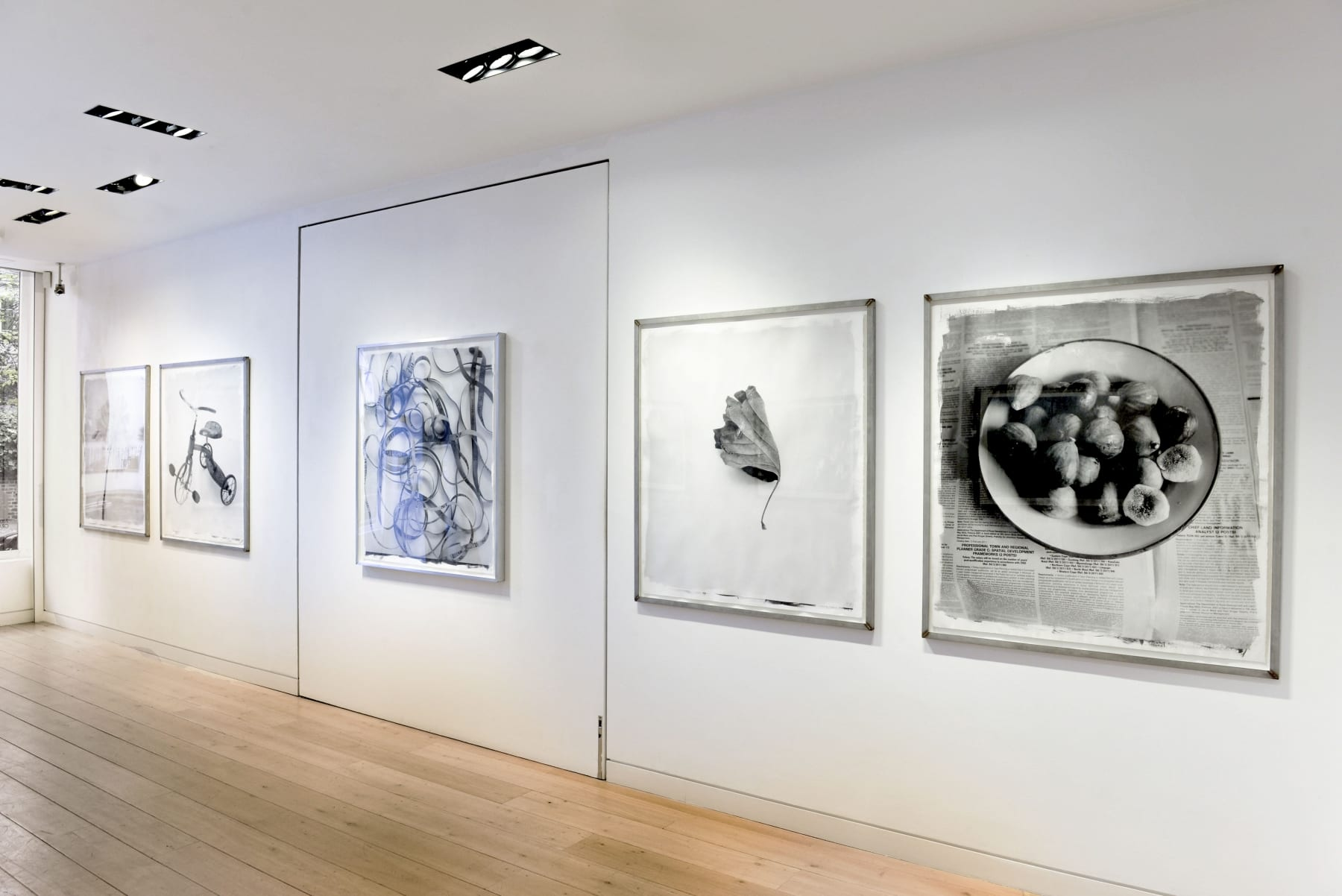 Stephen Inggs installation of black and white photographs at HackelBury London