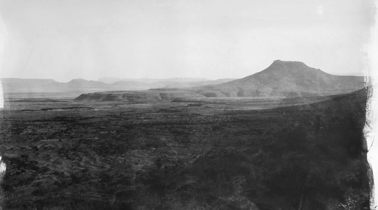 Stephen Inggs artwork - black and white photograph of South African landscape