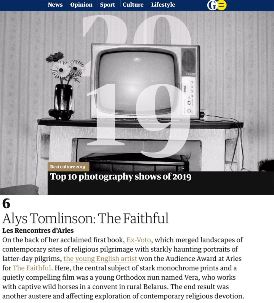 Press image from the Guardian Top Photography Shows of 2019