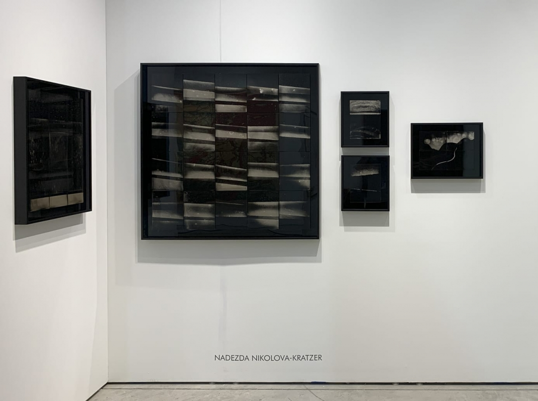 Installation image HackelBury at Art Miami 2019 - Nadezda Nikolova-Kratzer and William Klein