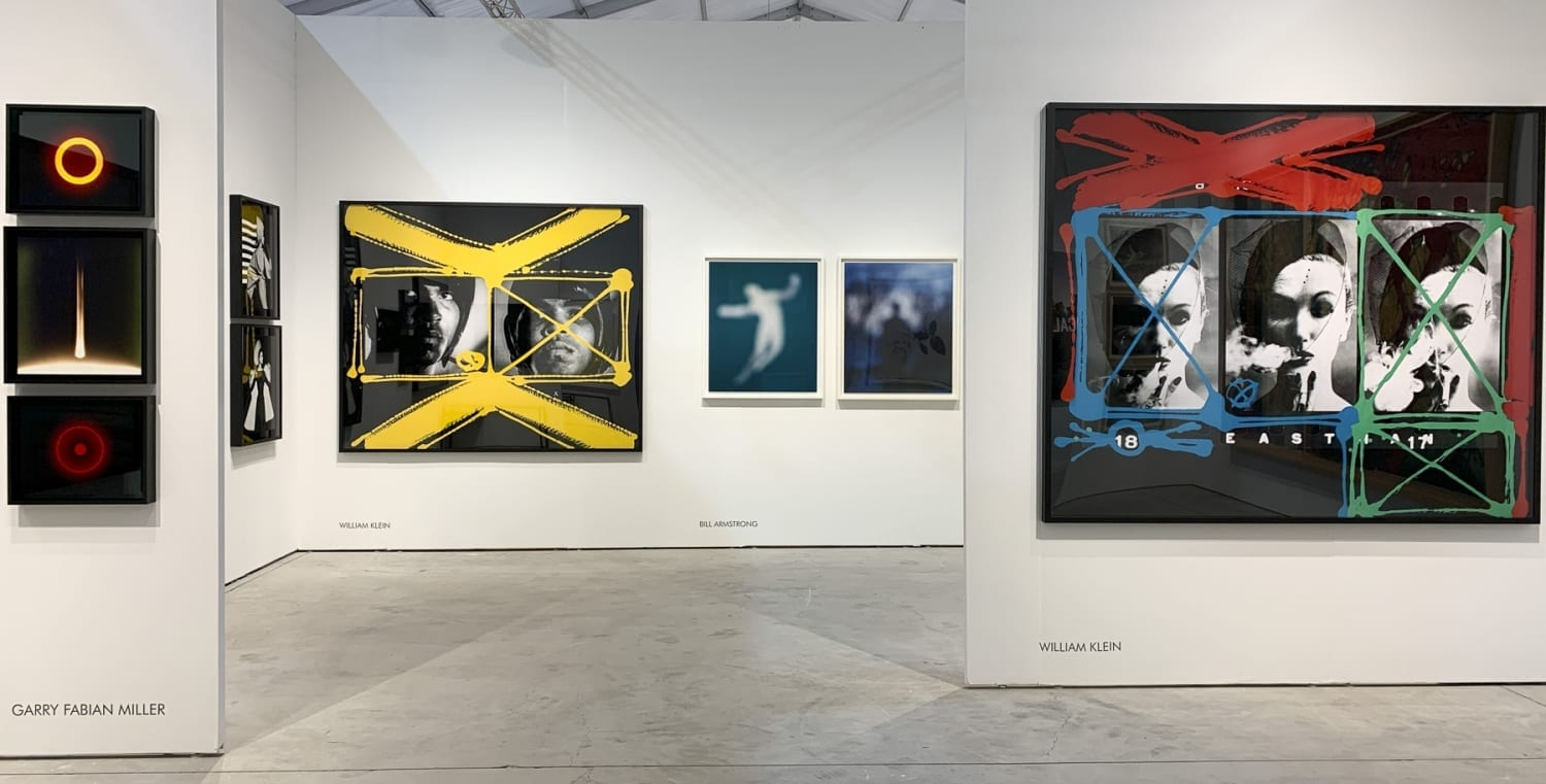 Installation image HackelBury at Art Miami 2019 - Garry Fabian Miller and William Klein