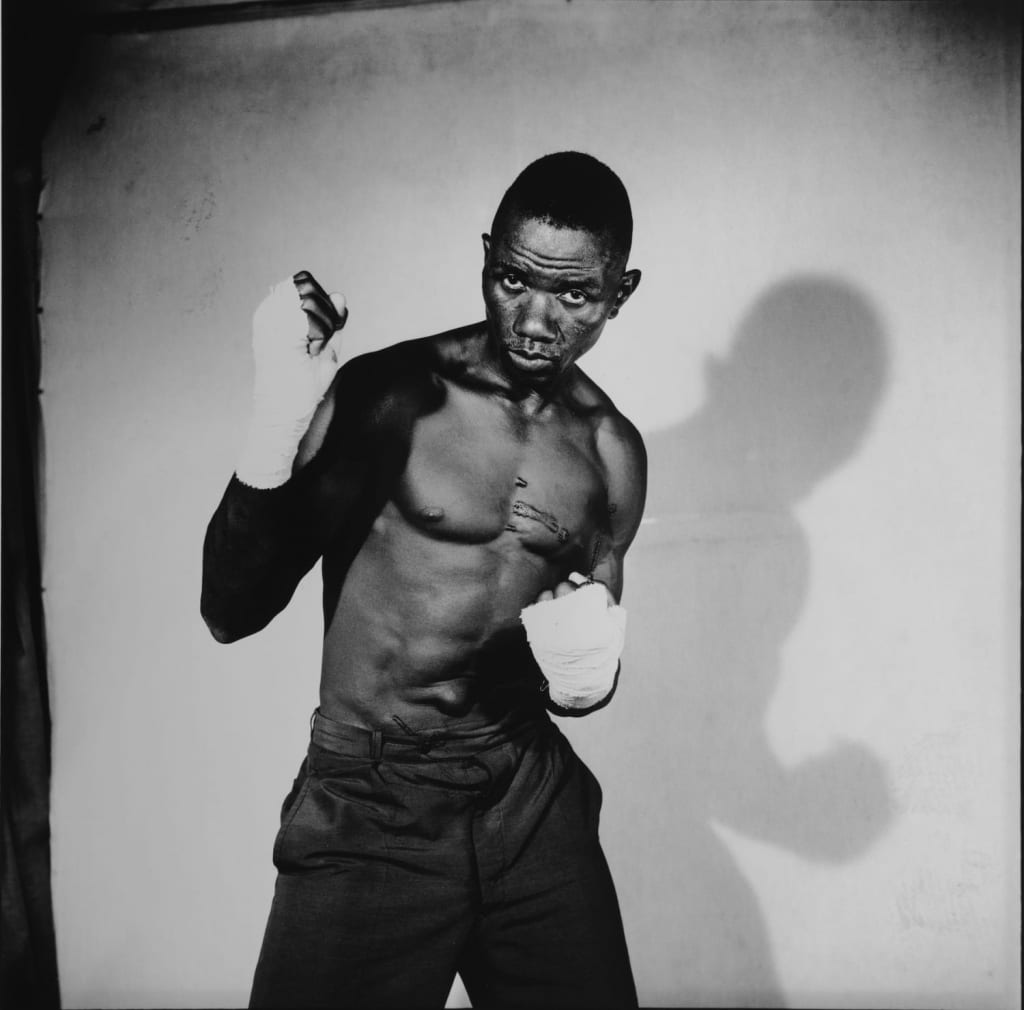 Malick Sidibé Hackelbury Boxer black and white photograph