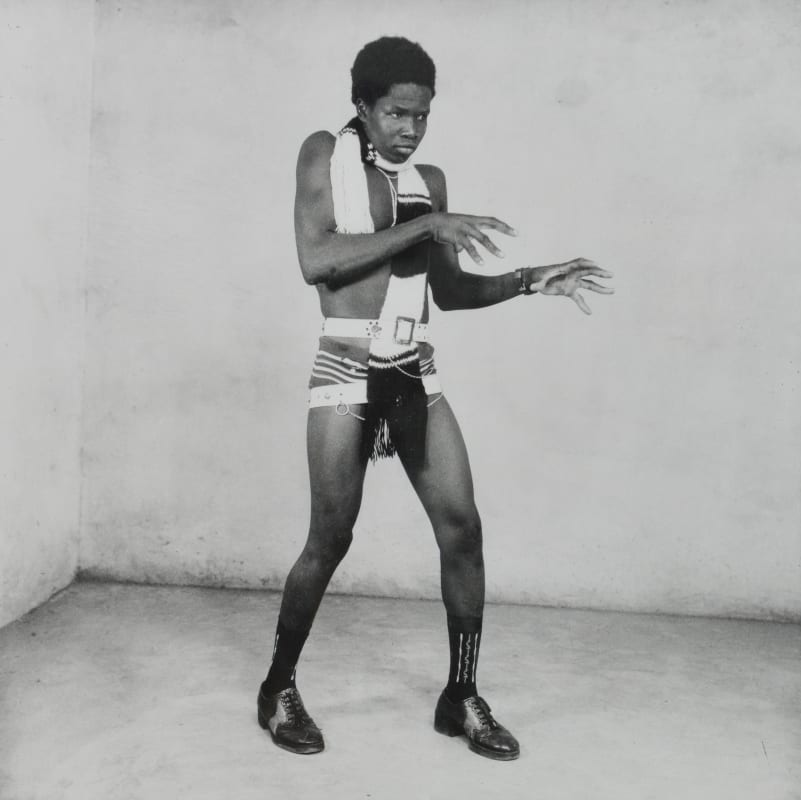 Malick Sidibé - Exhibitionist Before A Night Out, 1963