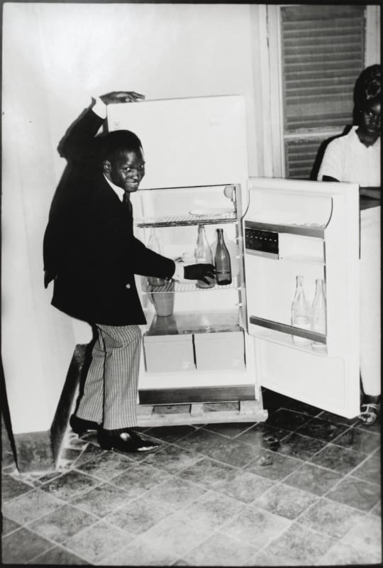 Malick Sidibé - Me Alone at the Fridge, 1968