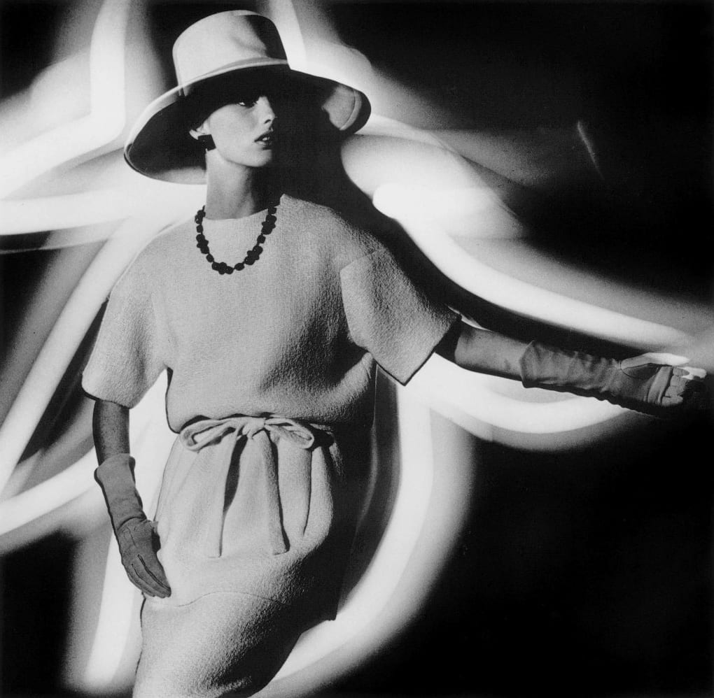 William Klein Dorothy + Light Hat profile, (Yves Saint Laurent), Paris